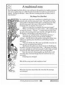 free tale worksheets for 3rd grade 15002 3rd grade 4th grade reading writing worksheets reading comprehension the mango tree