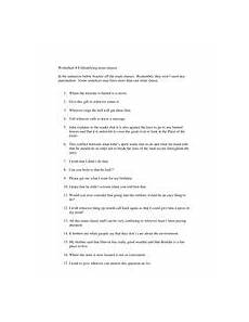 identifying noun clauses worksheet for 4th 8th grade