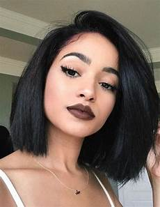 charming bob hairstyles black stright cute human hair wigs