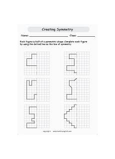 for each shape draw a line of symmetry use you rulers math geometry activity made by