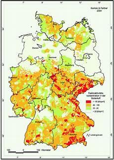 Die Radonkarte Deutschlands