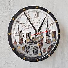 buy automaton new york wall clock at woodandroot for only