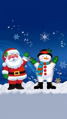 merry christmas santa claus and snowman iphone 7 wallpaper download iphone wallpapers ipad