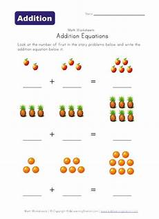simple math addition worksheets with pictures 9646 addition preschool worksheets equation math and addition worksheets