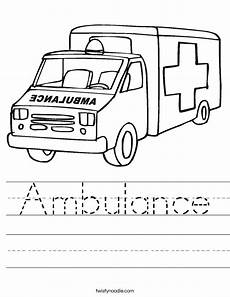 emergency services vehicles colouring pages 16512 ambulance worksheet twisty noodle