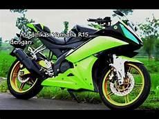 Modifikasi Yamaha R15 by Modifikasi Yamaha R15 Konsep Kuning Stabilo Oto F