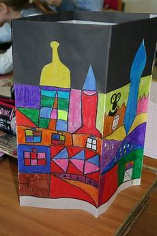 Malvorlage Hundertwasser Haus 41 Besten Hundertwasser Im Kindergarten Bilder Auf