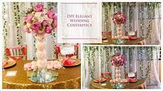 diy tall elegant wedding centerpiece diy wedding