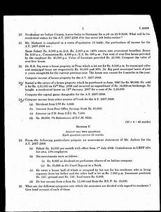 university of calicut income tax university model question
