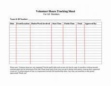 volunteer hours log sheet template pinterest