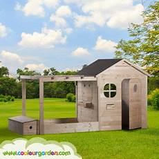 Une Maison De Jardin Pour Enfant En Bois Avec Pergola Bac
