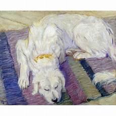 Malvorlage Liegender Hund Liegender Hund Hundeportrat Stretched Canvas Franz