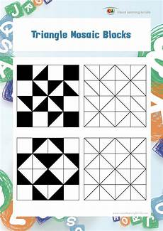visual learning for life triangle mosaic blocks