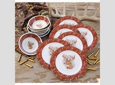 24   Pc. Melamine Dinnerware Set, Camo   136349