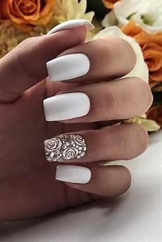 White Wedding Nail Ideas