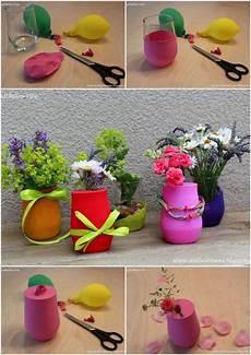 Diy Bunte Luftballon Vasen Kleine Tischdekoration Schnell