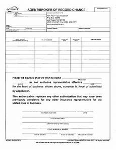 broker forms fillable online agent broker of record change form fax