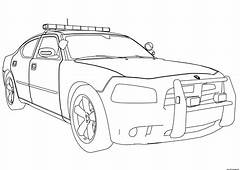 Free Download New Police Car Dodge Charger Coloring Pages
