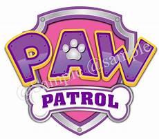 Paw Patrol Logo Malvorlagen 1 X Precut Paw Patrol Logo Pink Or Blue Icing Cake Topper
