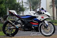 Modifikasi R 150 by Modifikasi Suzuki Gsx R150 Ngeri Pakai Kaki Kaki All
