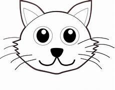 Katzengesicht Malvorlage Cat 1 Black White Line Coloring Sheet