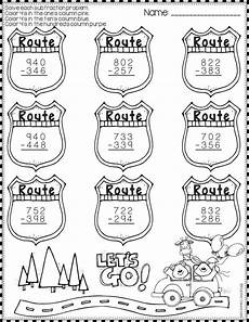 subtraction with regrouping worksheets summer 10707 summer 3 digit subtraction with regrouping color by code printables elementary education