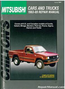 chilton car manuals free download 1986 mitsubishi galant windshield wipe control used chilton mitsubishi cars and trucks 1983 1989 repair manual