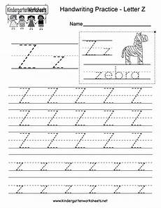 letter z writing practice worksheet this series of handwriting alphabet worksheets can also be