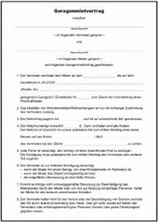 Kündigung Mietvertrag Vorlage Garage by Untermietvertrag Formular Gratis Zum