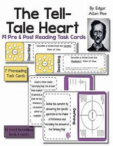 tale lesson for middle school 14997 19 task cards use the terrifying story the tell tale by edgar a poe to teach