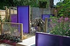 Sichtschutz Terrasse Stoff - verschiedene sichtschutz paneele aus stoff mit holzrahmen