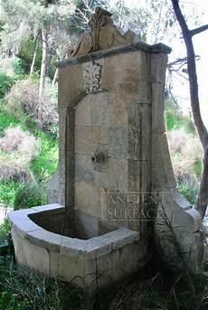 Wasserspiel Stein Garten - wall fountains out of antique limestone mediterranean