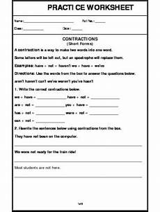 a2zworksheets worksheet of short forms grammar english
