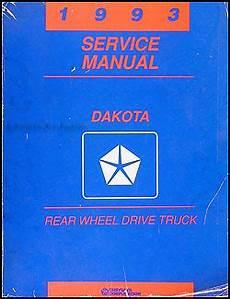 vehicle repair manual 1993 dodge dakota on board diagnostic system 1993 dodge dakota repair shop manual original
