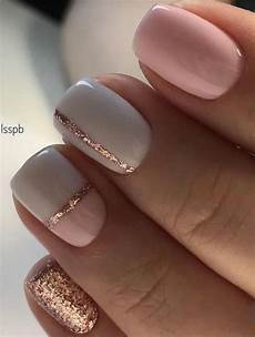 rose gold pink white mod stripe color block nails manicure