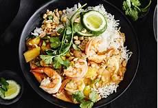 Curry Mit Reis - garnelen mango curry mit reis frisch gekocht
