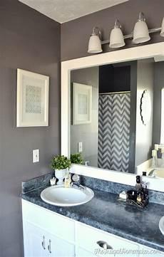 Framed Bathroom Mirror Ideas How To Frame Out That Builder Basic Bathroom Mirror For