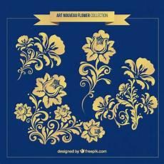 fiori liberty ornamenti fiori in stile liberty scaricare vettori gratis