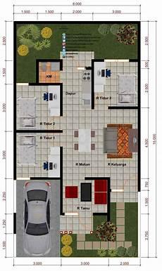 Terbaru 16 Denah Rumah 3 Kamar 6 X 12 Gambar Minimalis