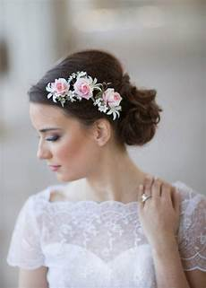 Flower Hair Pieces For Weddings pink wedding flower bridal hair accessories 2228563