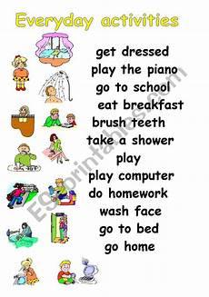 everyday activities esl worksheet by julita26
