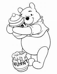 winnie the poo color pages med bilder nalle puh nallar