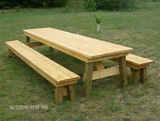 Classic Picnic Table With Separate Benches Plan How To