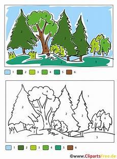 Malvorlage Nach Zahlen Ausmalbilder Wald Zum Ausdrucken Tippsvorlage Info