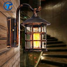 transctego country style outdoor wall sconce l retro luminaria courtyard light for bar coffee