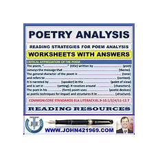 poetry analysis worksheet with answers 25533 poetry analysis worksheet teachers pay teachers