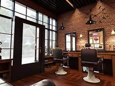 Photo Barbershop Interior Bostoncap Barber 1 Desain
