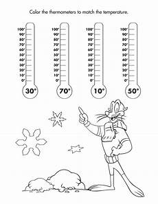weather temperature worksheets 14691 color the thermometers with the correct temperature freeprintable coloring childsafety 1st