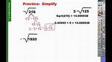 11 4 how to find simplest radical form youtube