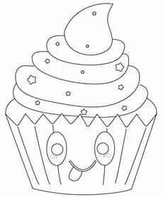 Kawaii Ausmalbilder Zum Ausdrucken Kostenlos Ausmalbild Kawaii Cupcake Mit Sternen Ausmalbilder